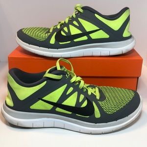 Nike Free 4.0 V4 Neon Gray Black Men US Sz 8.5